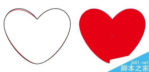(两种方法)用ai绘制对称的爱心图形